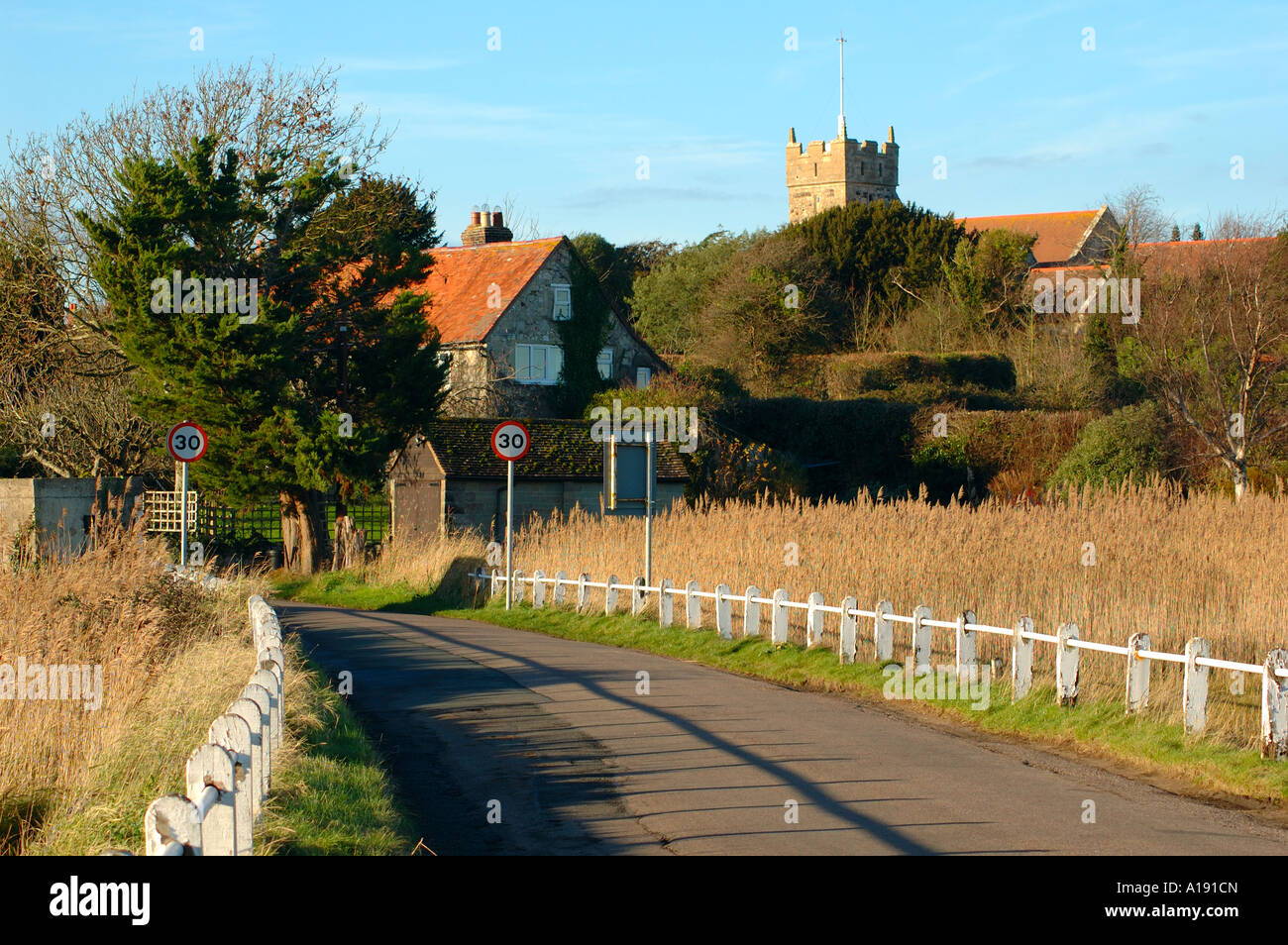 The Causeway, Freshwater, Isle of Wight, England, UK, GB. Stock Photo