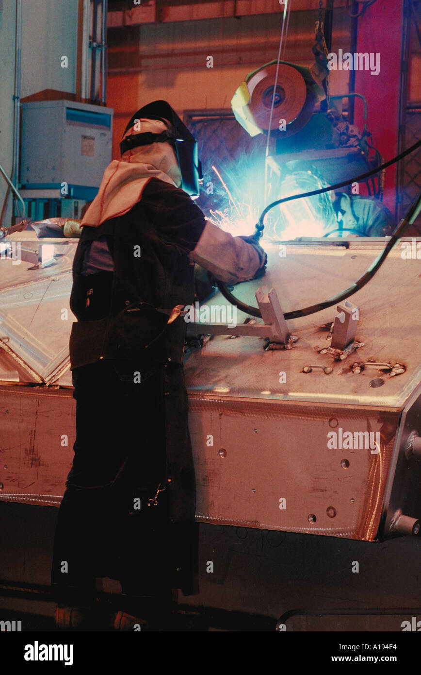 welder at FMC Corp San Jose CA - Stock Image