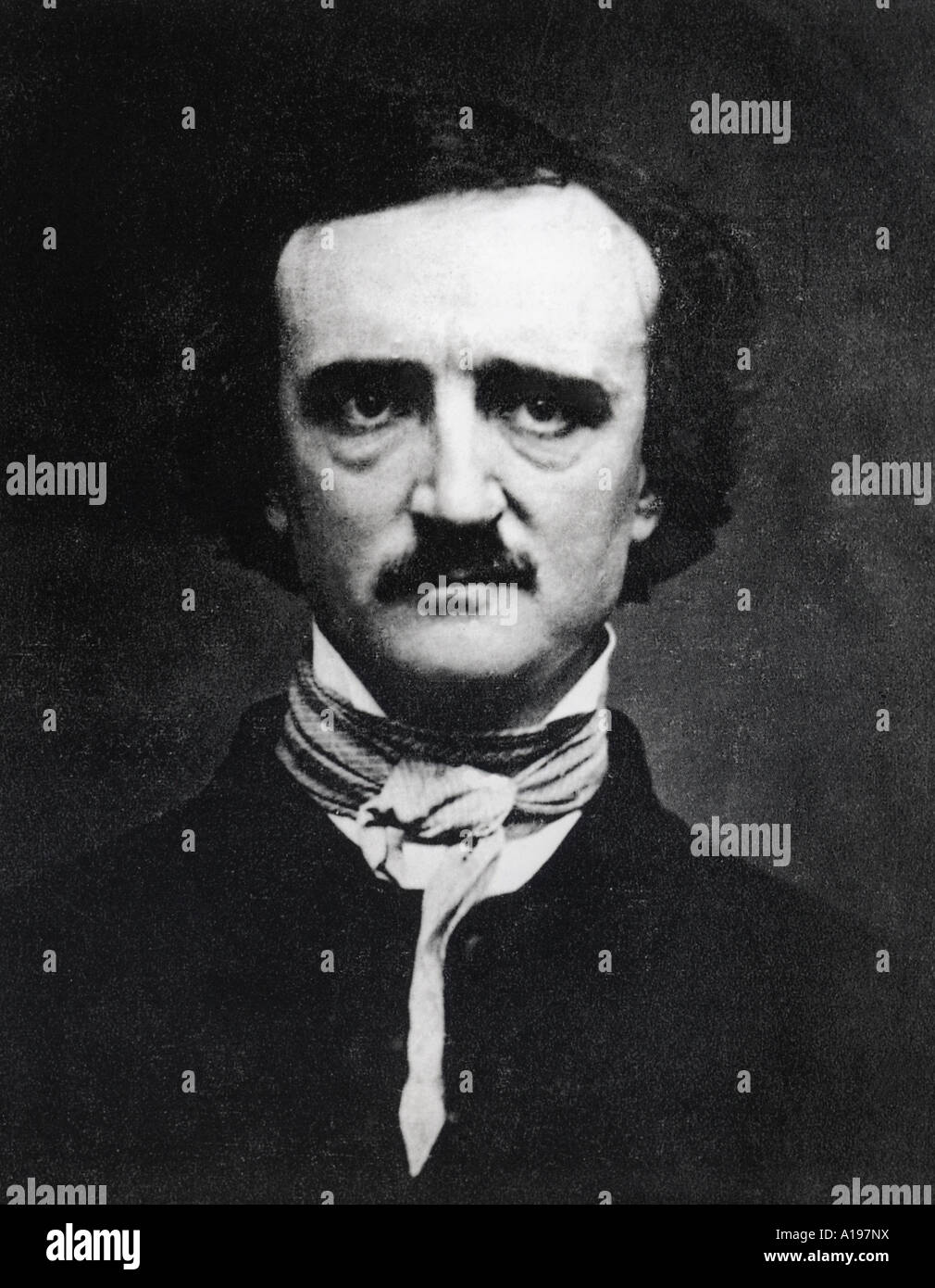 EDGAR ALLAN POE American writer 1809 to 1849 - Stock Image