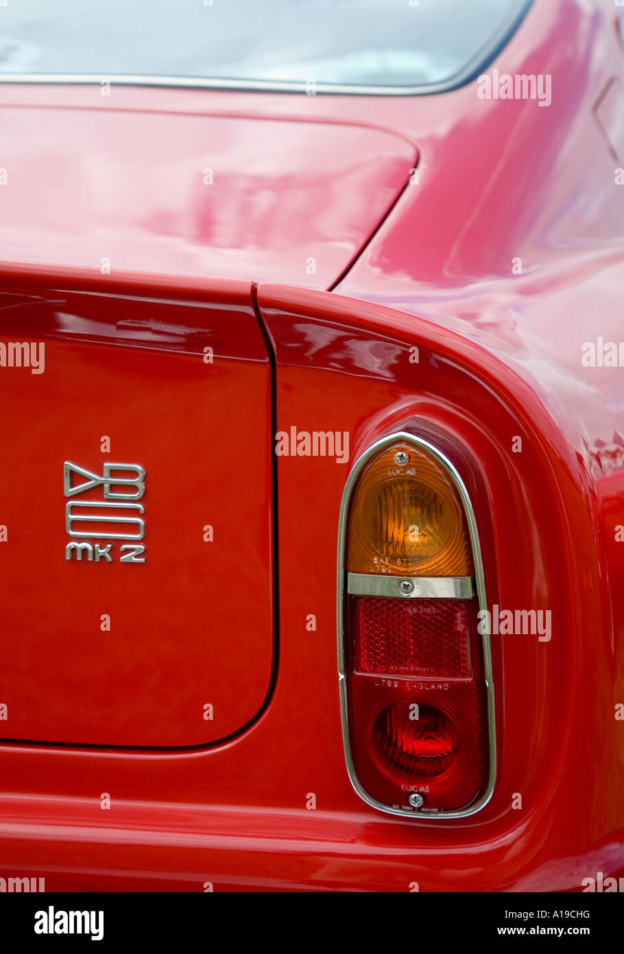 Red Aston Martin Db6 Mk2 Rear Wing And Lights Stock Photo Alamy