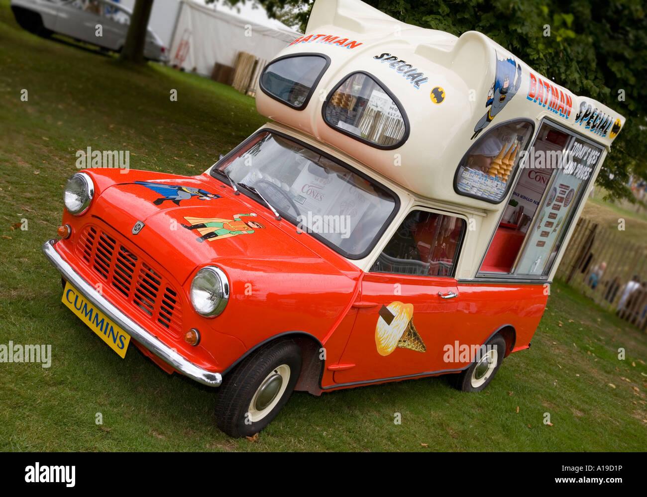 Leyland Mini ice-cream van. Stock Photo
