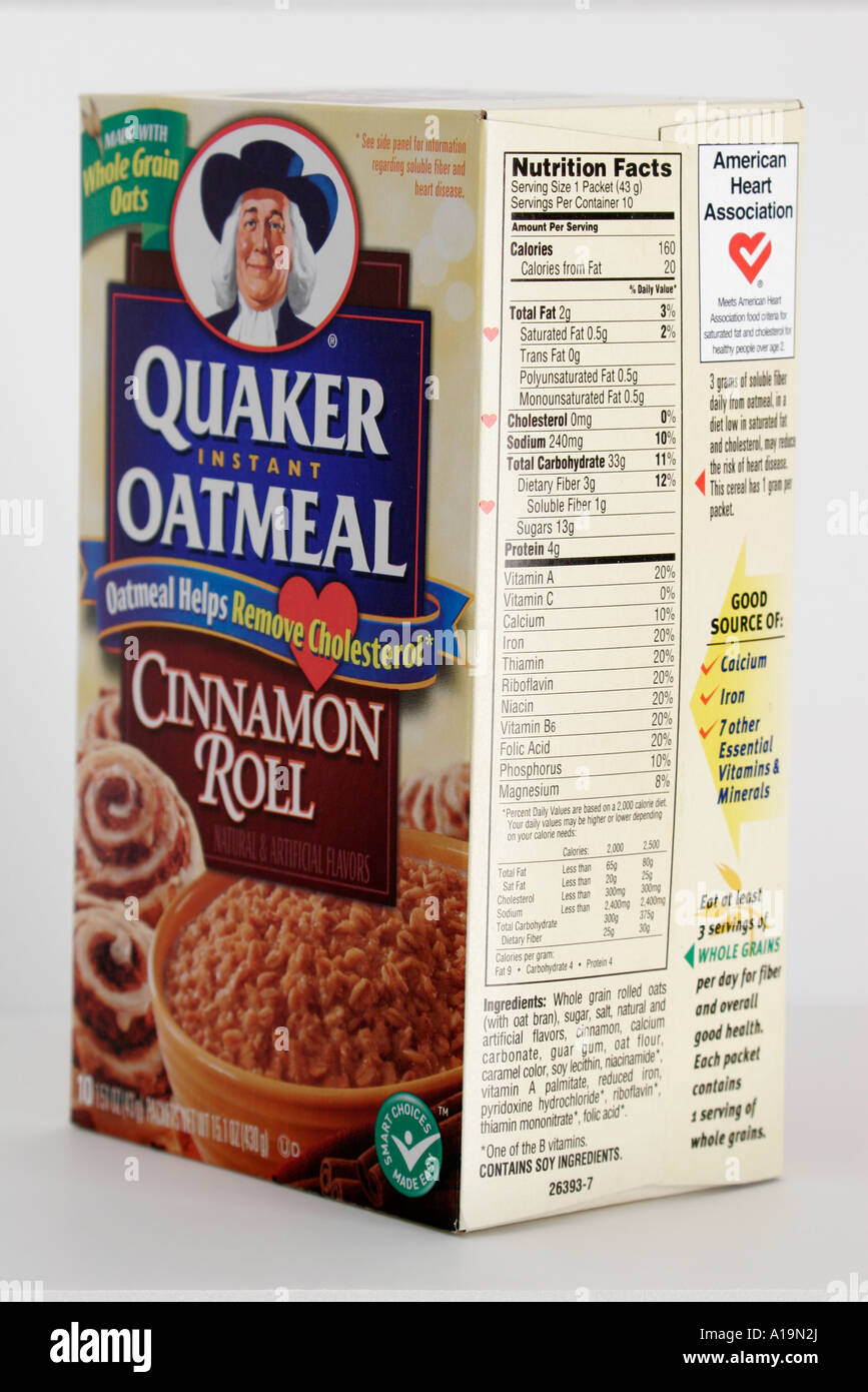 quaker oatmeal stock photos & quaker oatmeal stock images - alamy