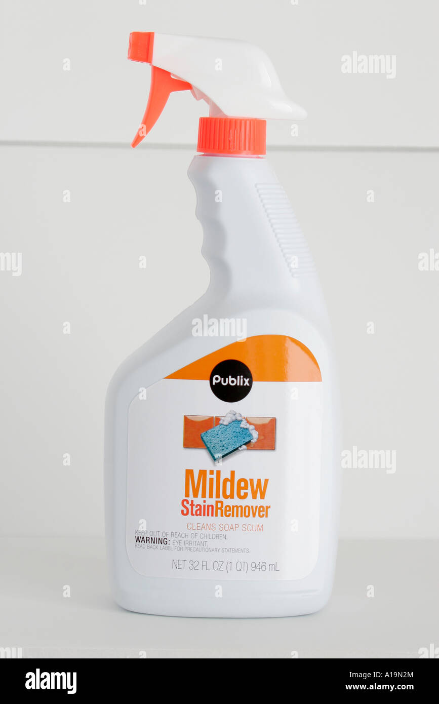 Miami Beach Florida Product Packaging Spray Bottle Publix Mildew - Bathroom mildew remover