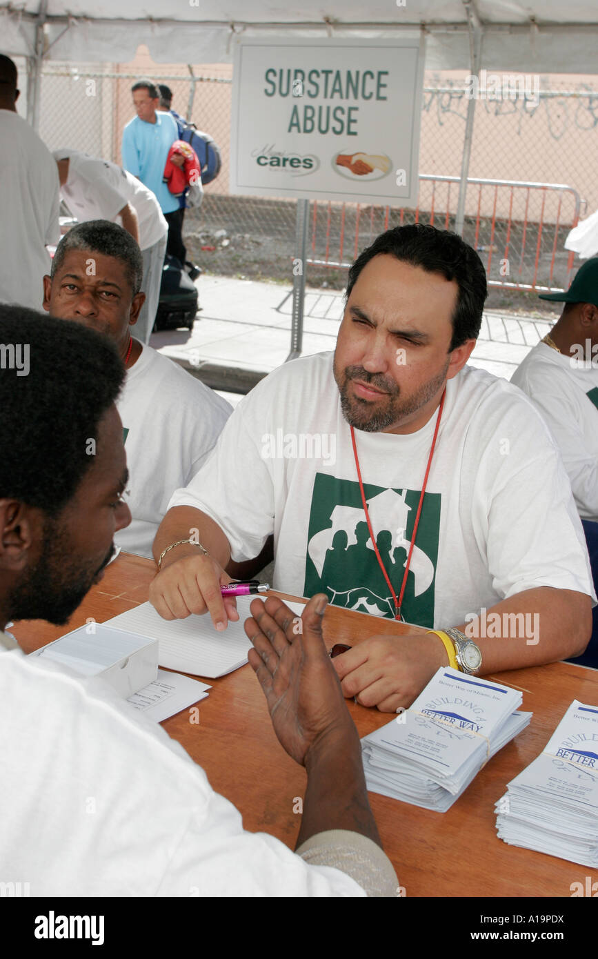 Miamimiami Florida Cares Day Homeless Services Substance Abuse Stock