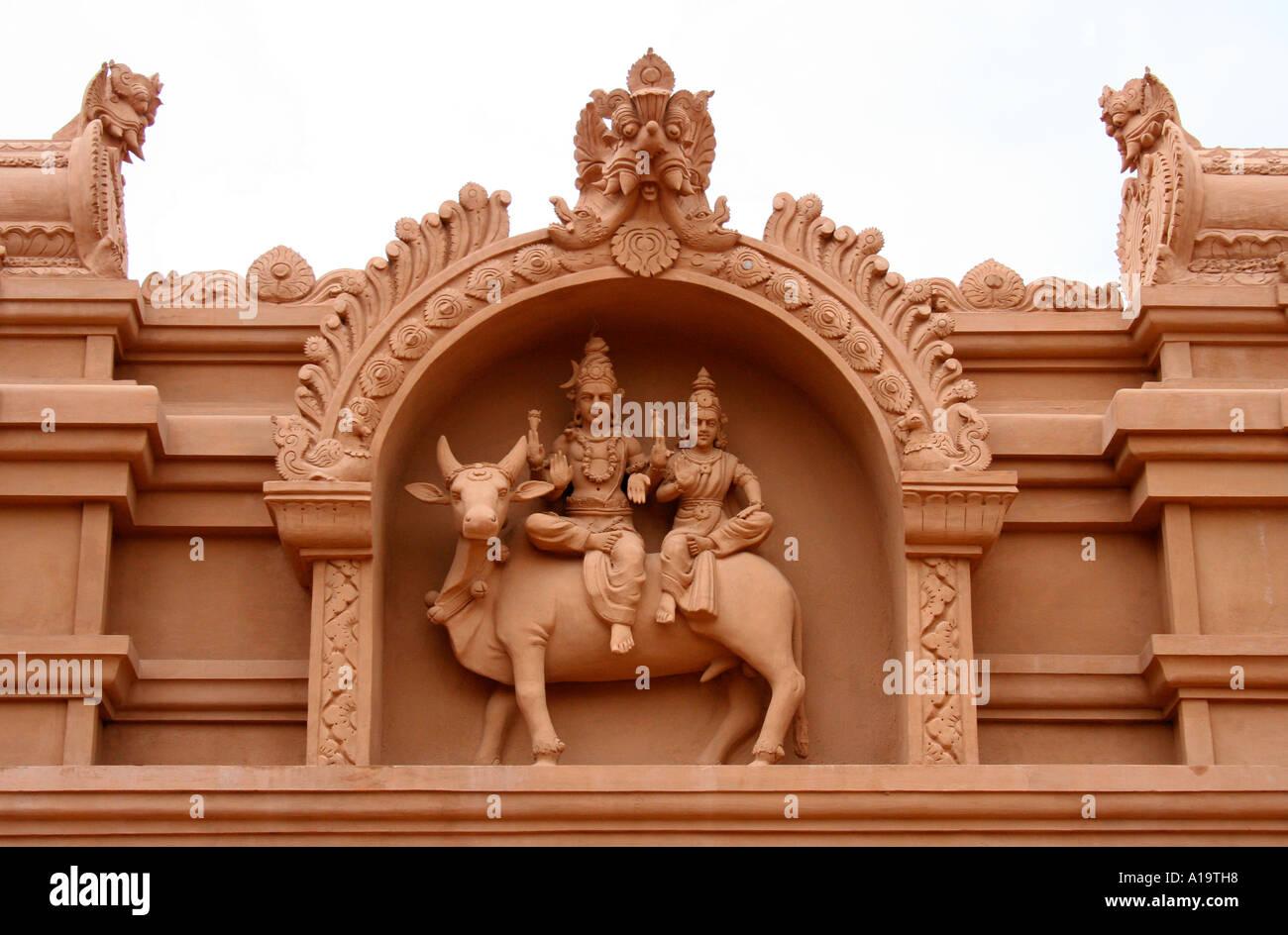 Temple architecture Tamil nadu, India - Stock Image
