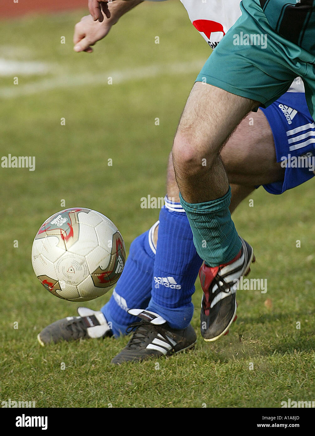 Football Duel Soccer Fussball Zweikampf Stock Photo