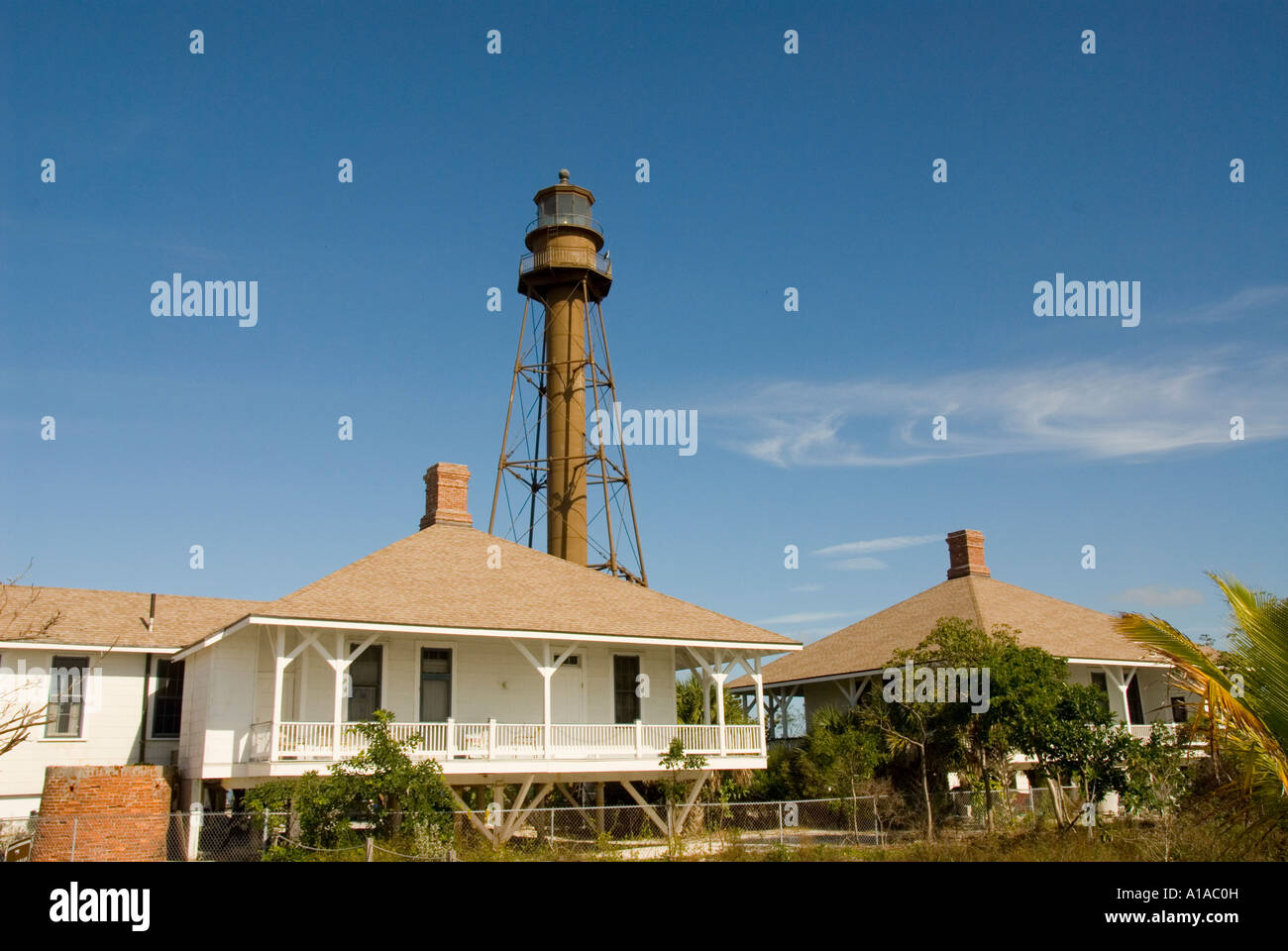 Florida Sanibel Island Lighthouse Tower And Light