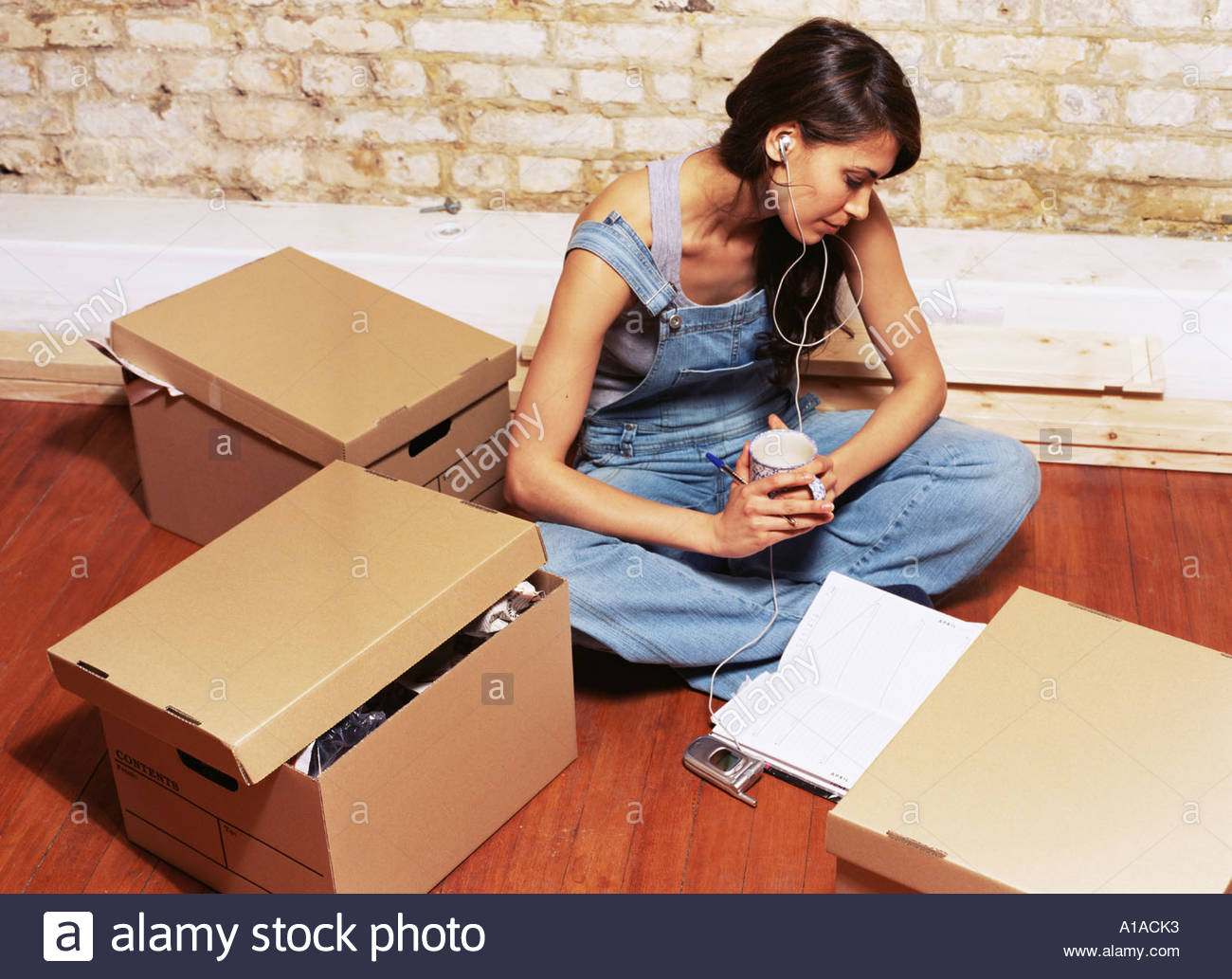 Woman preparing to decorate - Stock Image