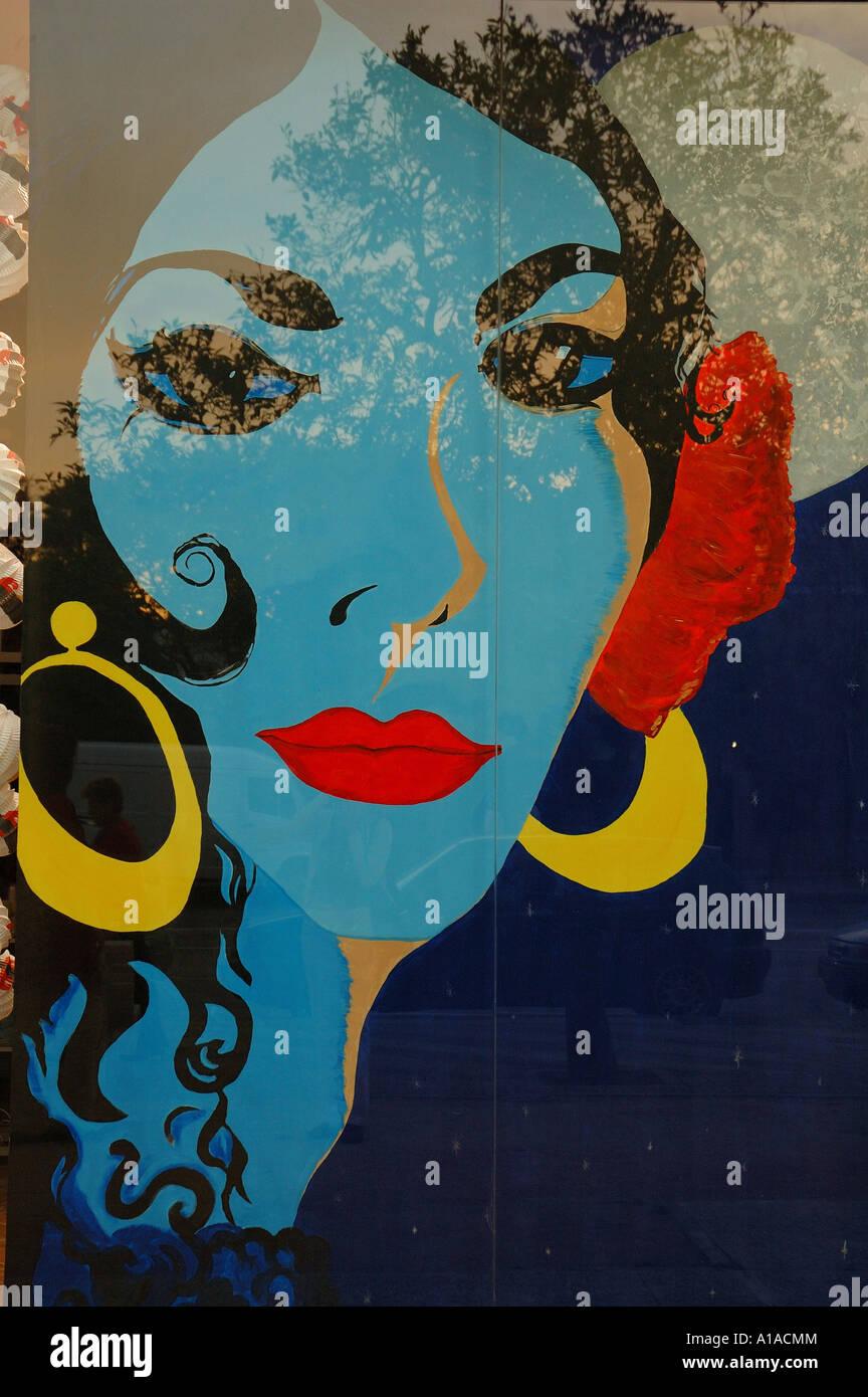 Pop-art portrait , Jerez de la Frontera , Cadiz , Andalusia , Spain , Europe - Stock Image