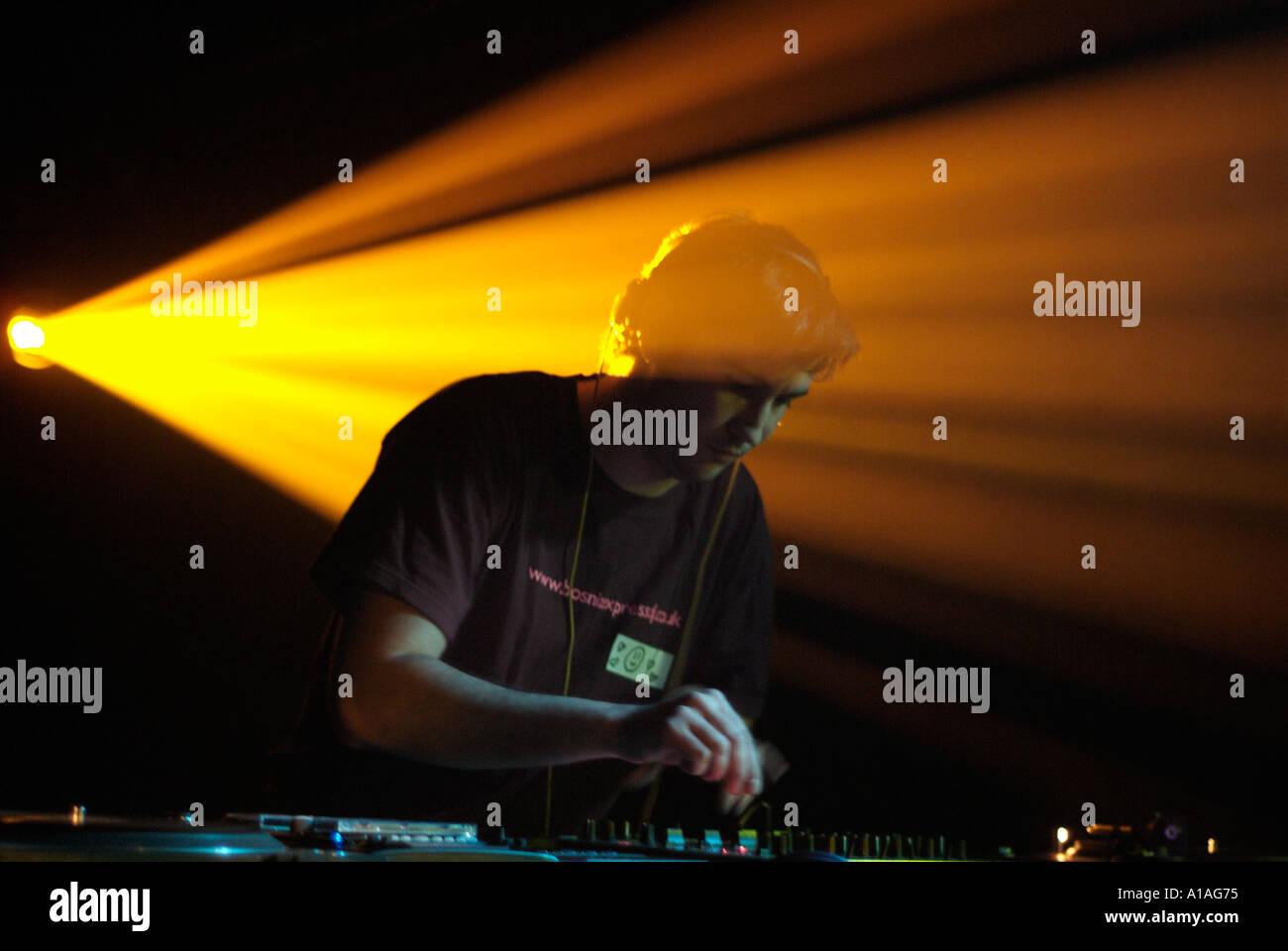 Nightclub Disc Jockey - Stock Image