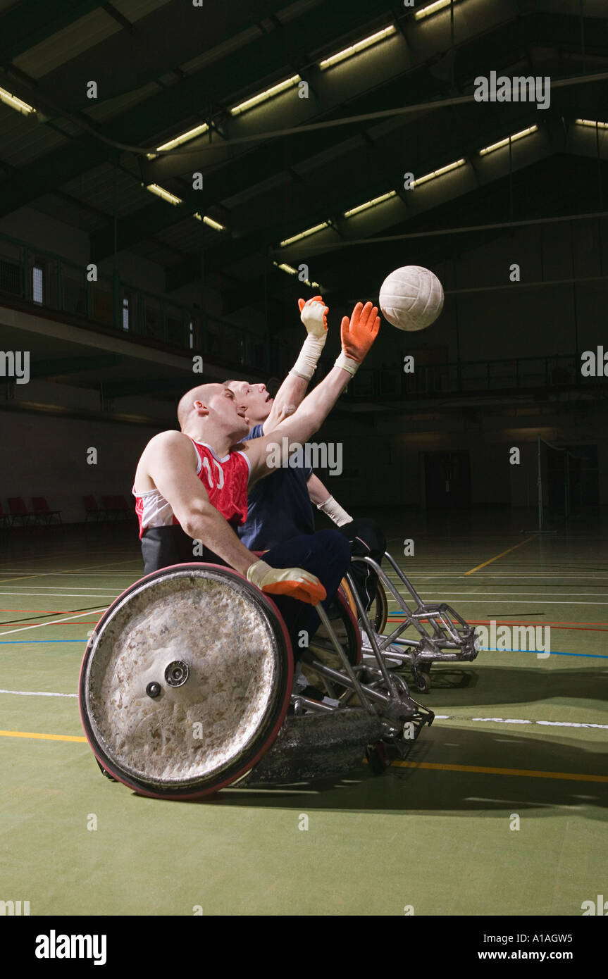 Quad rugby players - Stock Image