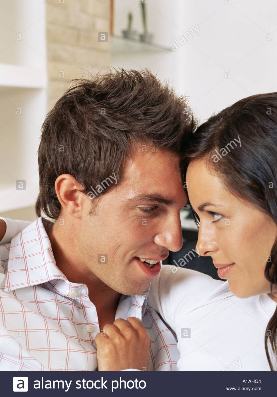 Portrait of an intimate couple - Stock Image