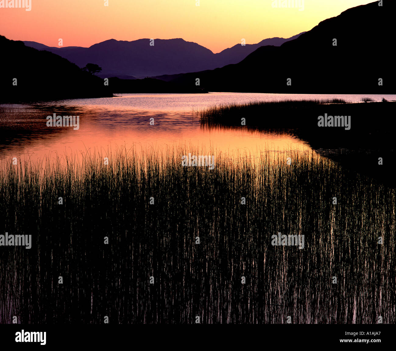 Kylemore Lough Connemara Co Galway Ireland - Stock Image