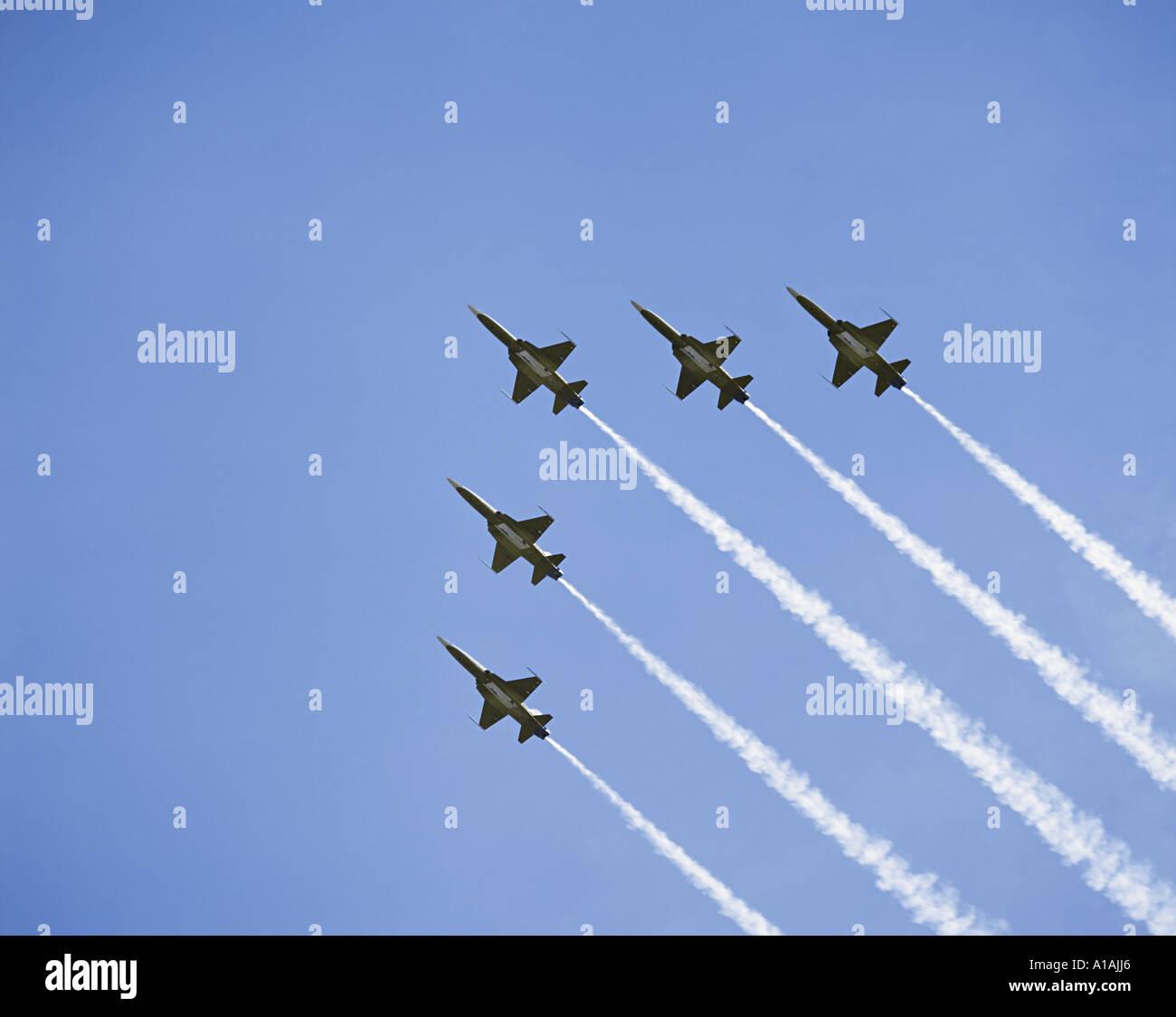 Air force aerobatic team - Stock Image