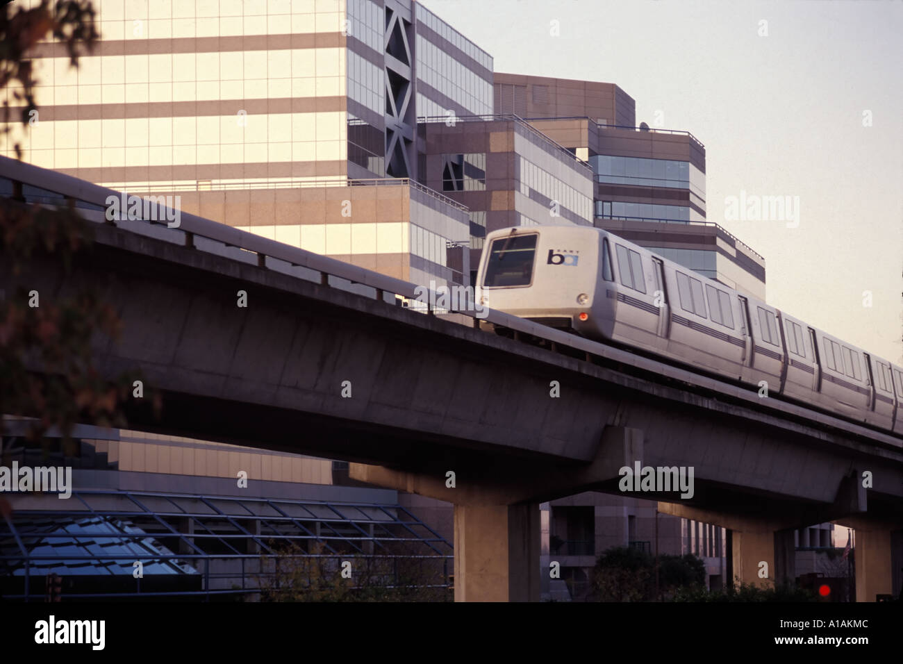 California, Contra Costa, BART train near Walnut Creek station - Stock Image
