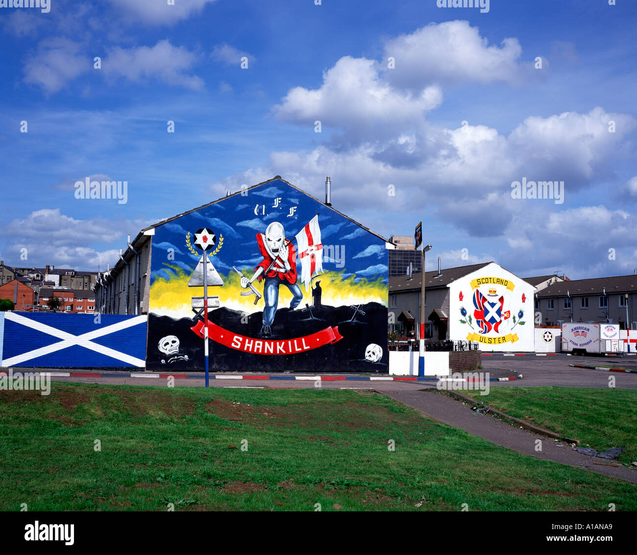 Loyalist Mural Belfast Northern Ireland - Stock Image