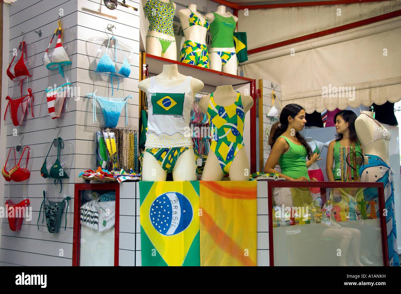 A Bikini And Swim Suit Shop In Rio De Janeiro Brazil Stock Photo Alamy