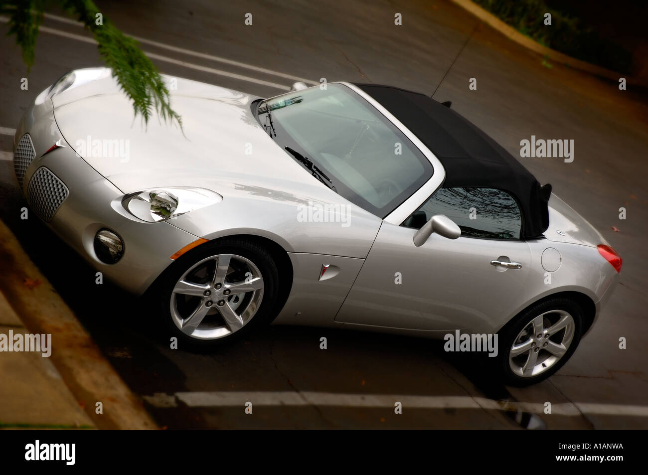 Brand new 2006 Pontiac Solstice. The Solstice is the only American roadster priced under 20,000 UDS. - Stock Image