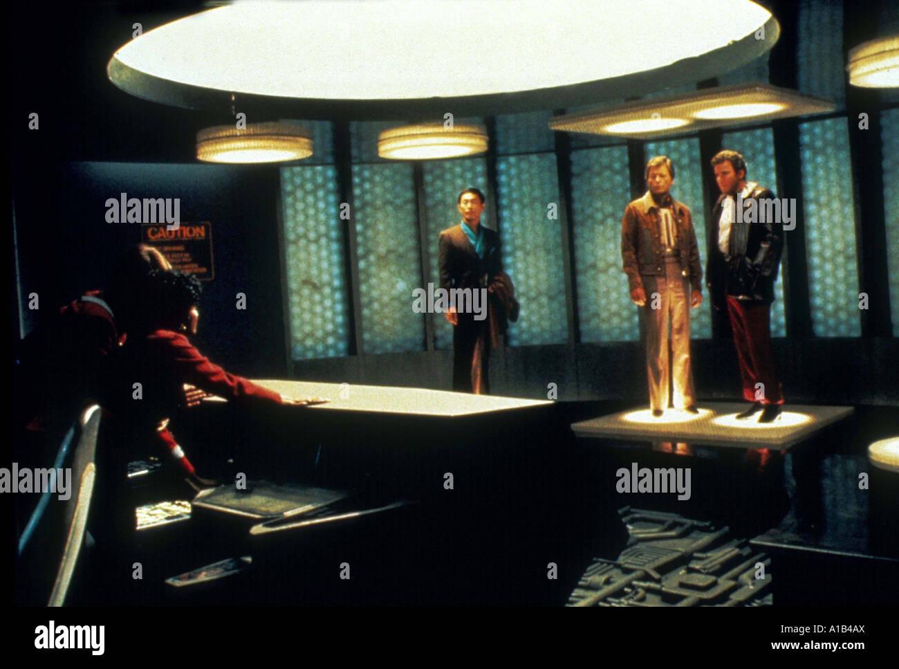 Star Trek III The Search For Spock Year 1984 Director Leonard Nimoy George Takei Hikaru Sulu DeForest Kelley Dr Stock Photo