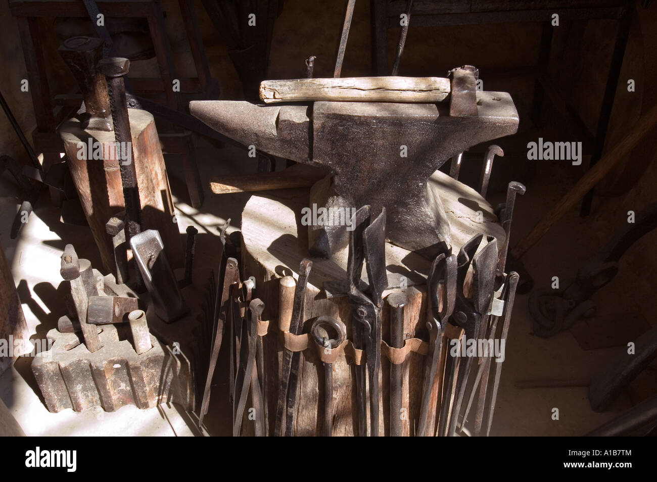 Metalwork workshop - Stock Image