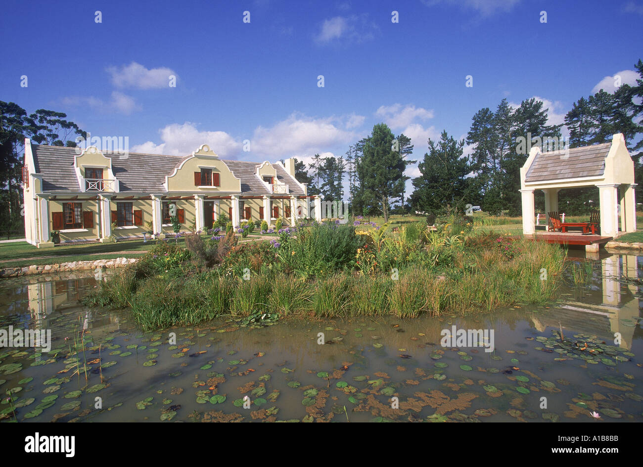 Dutch architecture Huguenot guest house South Africa A Evrard - Stock Image