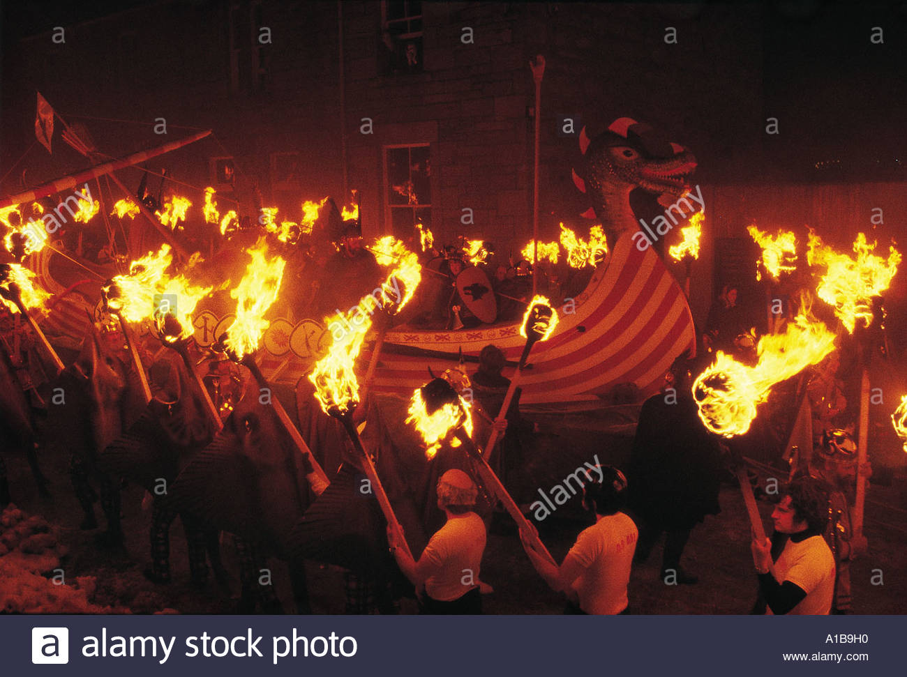 UP HELLY AA LERWICK SHETLAND Stock Photo