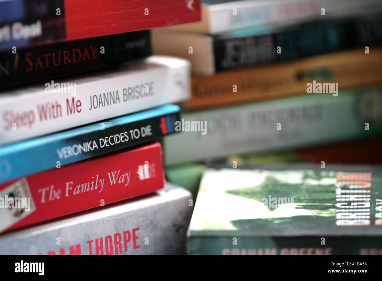 stack of novels Stock Photo
