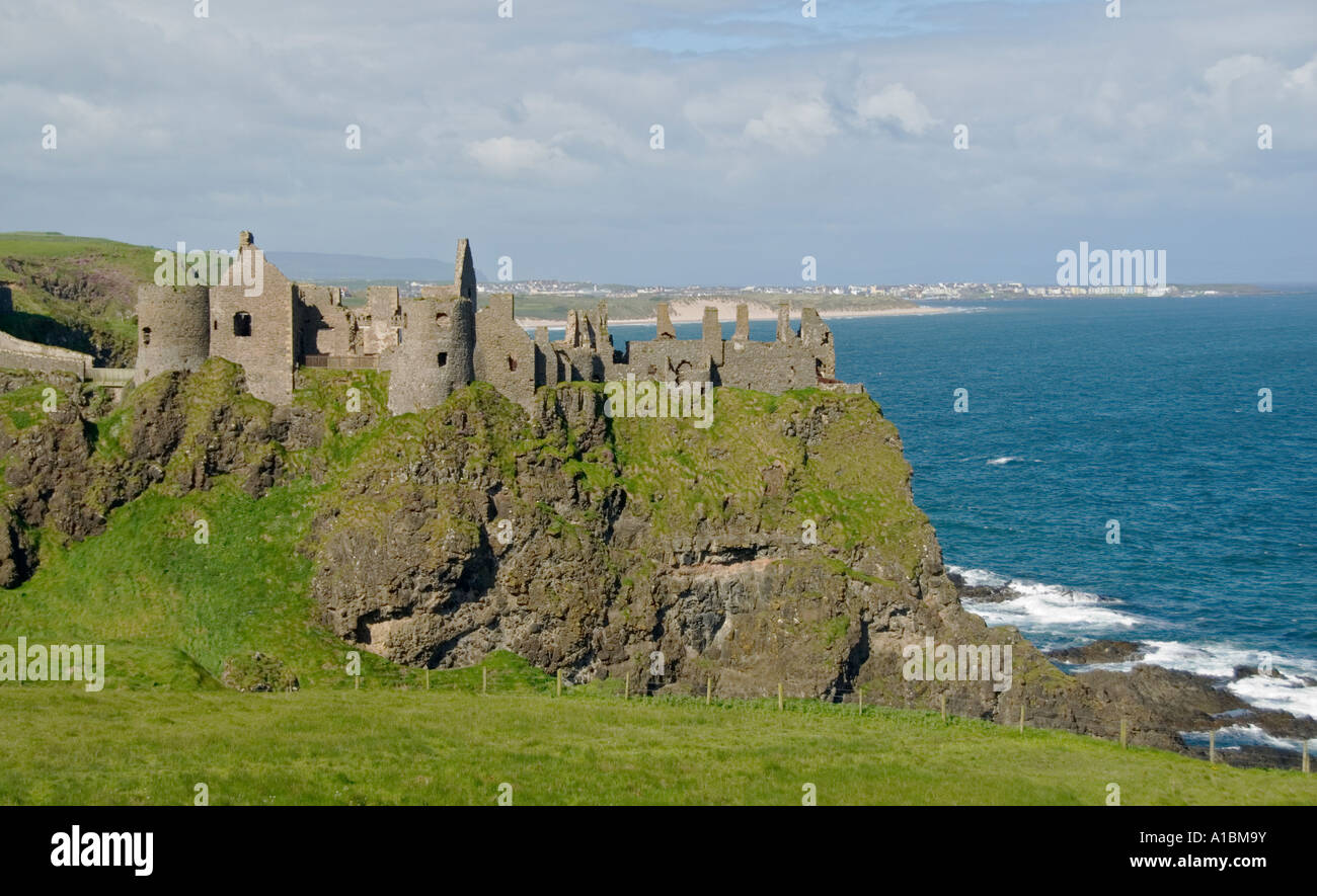Northern Ireland Country Antrim Dunluce Castle Stock Photo