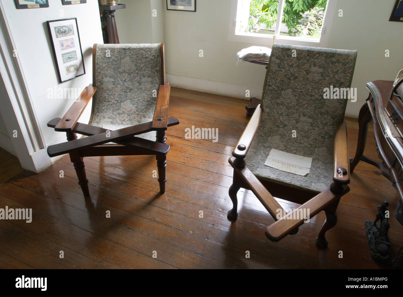 Superior Barbados Sunbury Plantation House St Philip Colonial Period Interior  Planters Chairs With Leg Rests