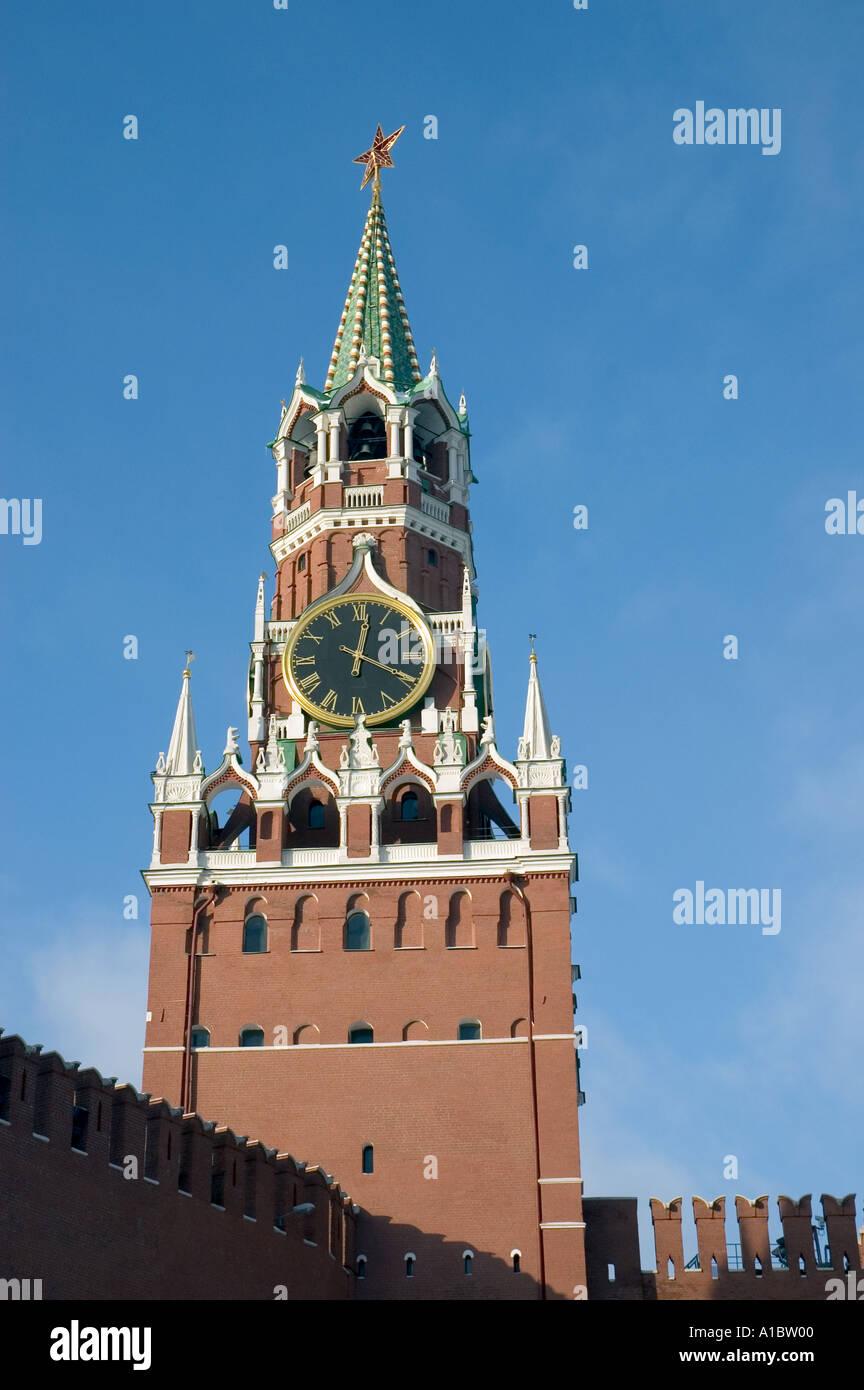 Saviour s Tower in Moscow s Kremlin - Stock Image
