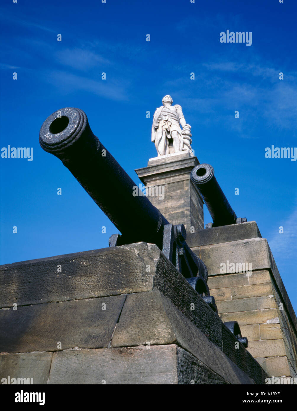 Monument to Admiral Lord Collingwood, Tynemouth, Tyne and Wear, England, UK. Stock Photo