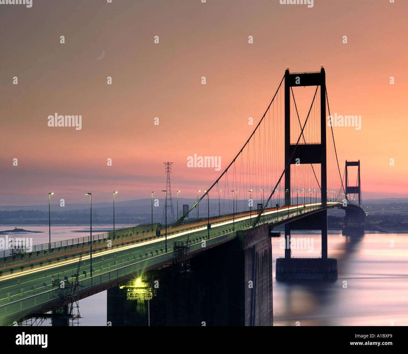 GB - AVON: Severn Bridge near Bristol - Stock Image
