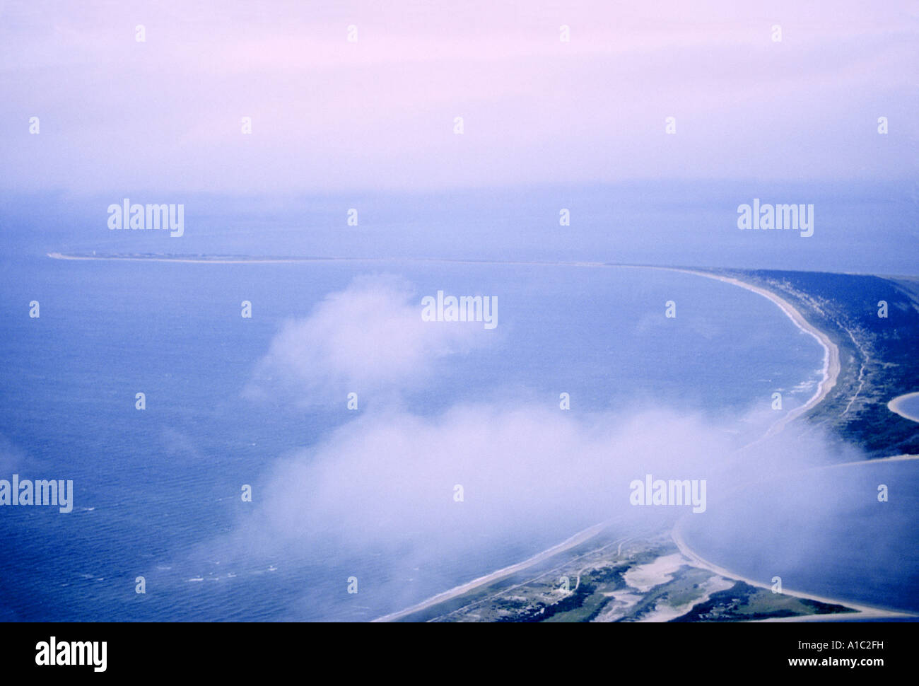 Aerial view of Fog Island Nantucket, MA. - Stock Image