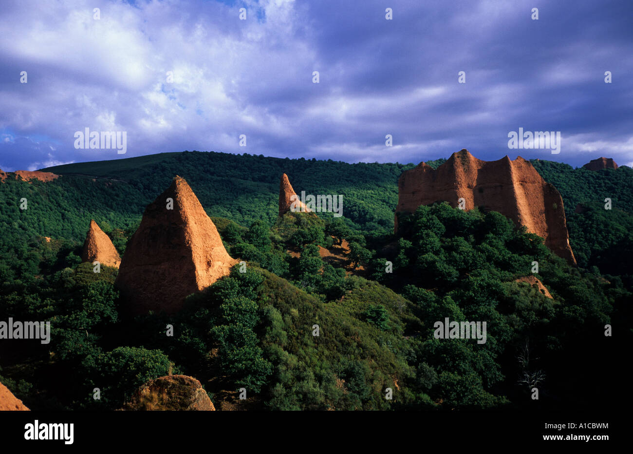 las medulas el bierzo spain spanish landscape - Stock Image