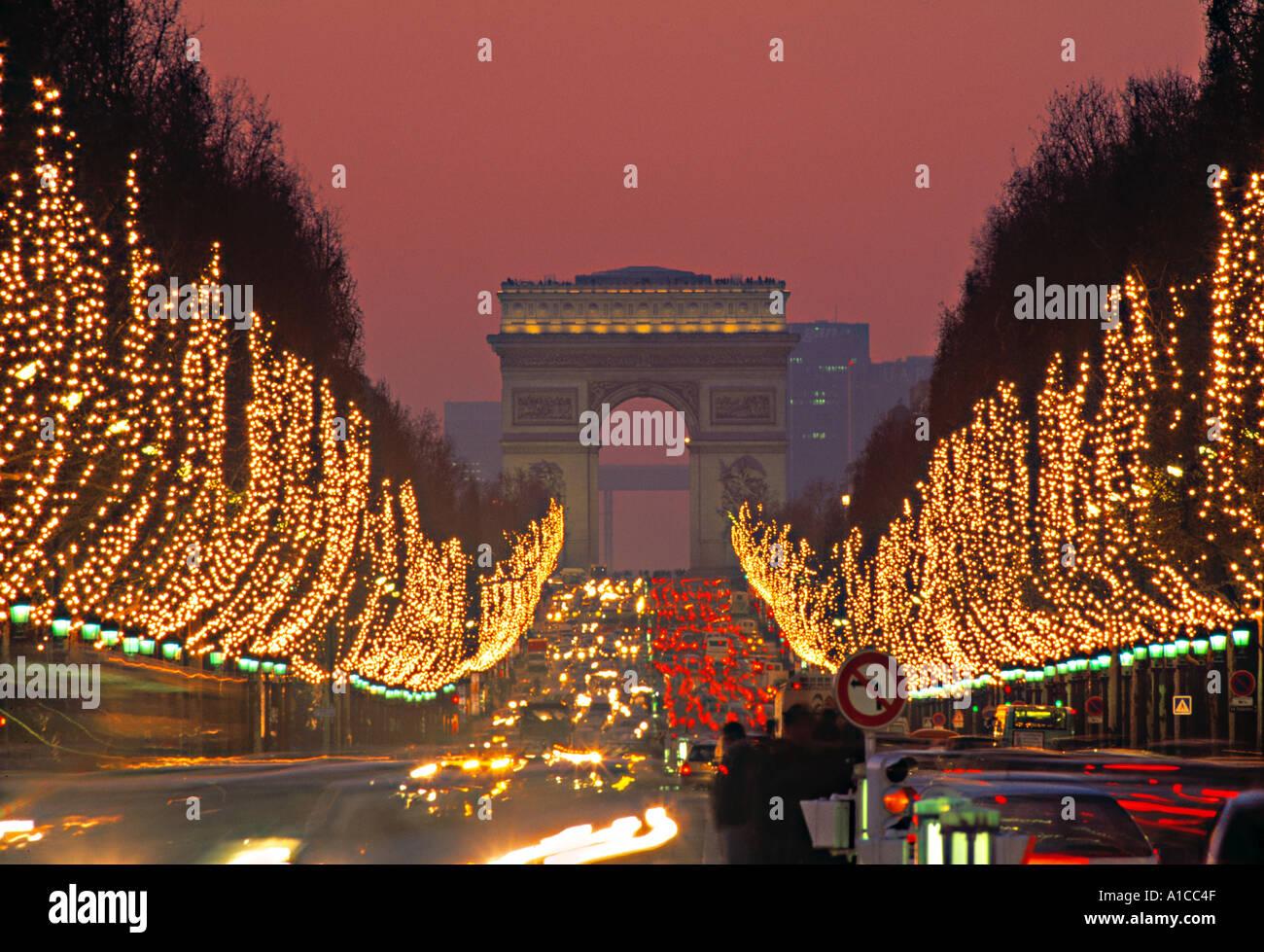Champs Elysees, Paris, France - Stock Image
