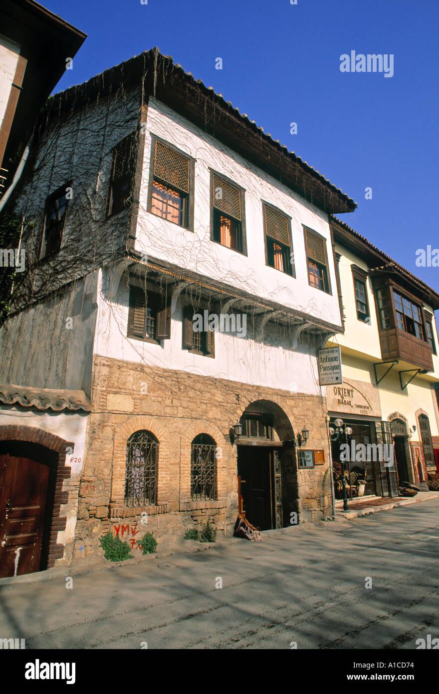 Ottoman house, Kaleici, Antalya, Turkey - Stock Image