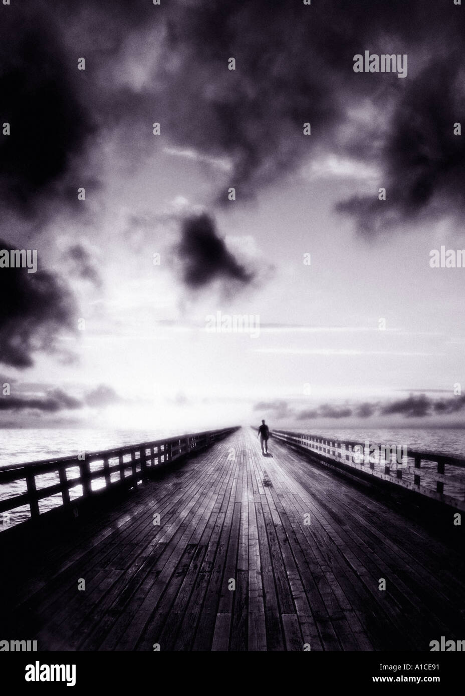 bridge b w - Stock Image