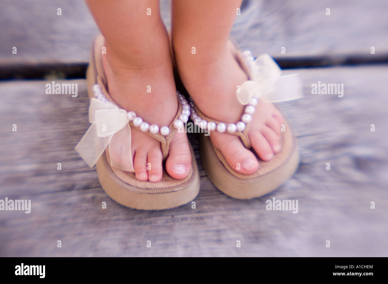 c782eb3106bcf6 Girls Feet In Sandals Stock Photos   Girls Feet In Sandals Stock ...