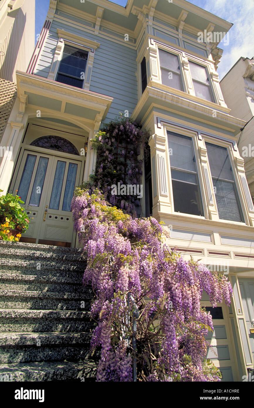 Elk253-4618 San Francisco CA Victorian house - Stock Image