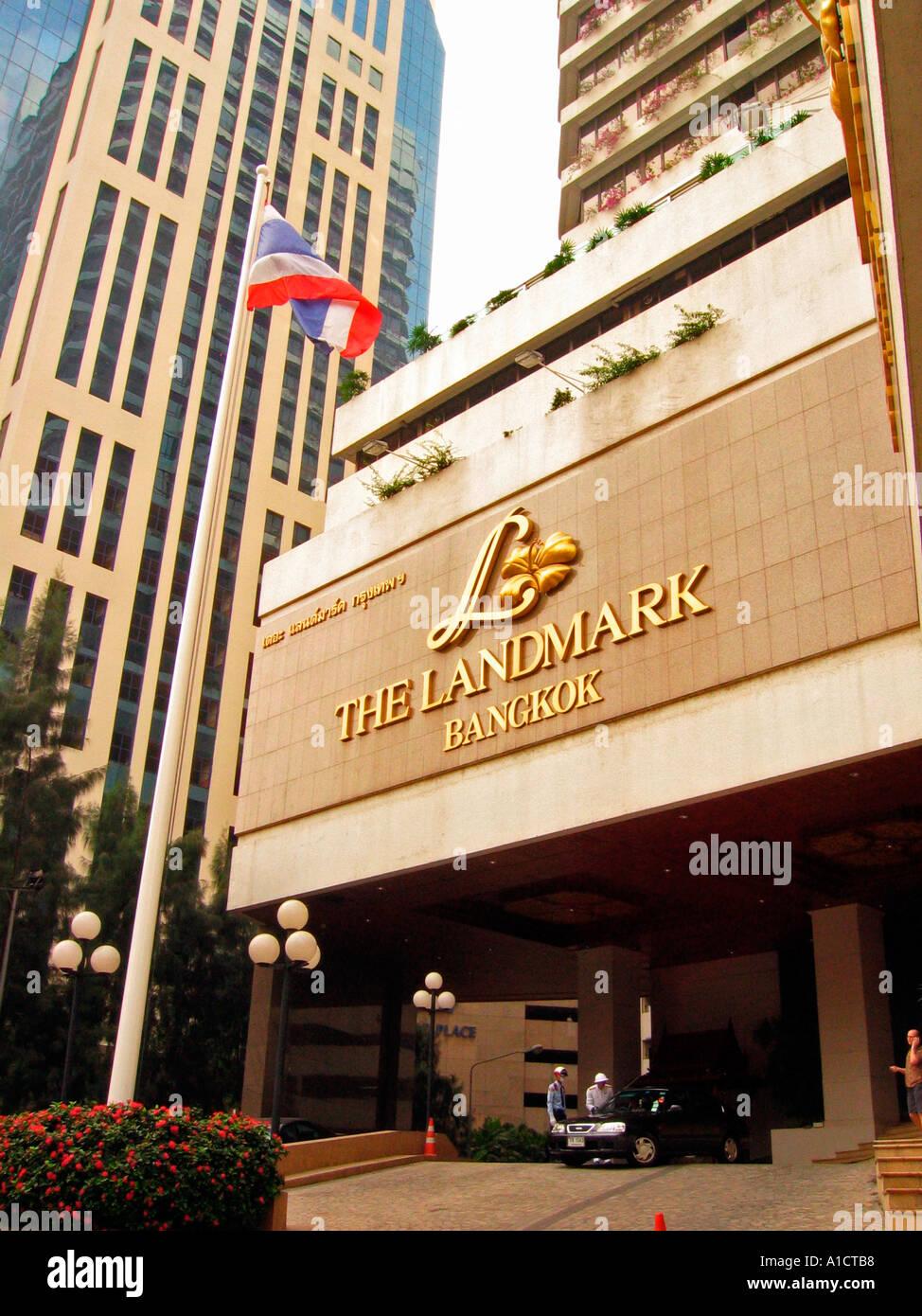 The Landmark Luxury Hotel Sukhumvit Road Bangkok Stock Photo