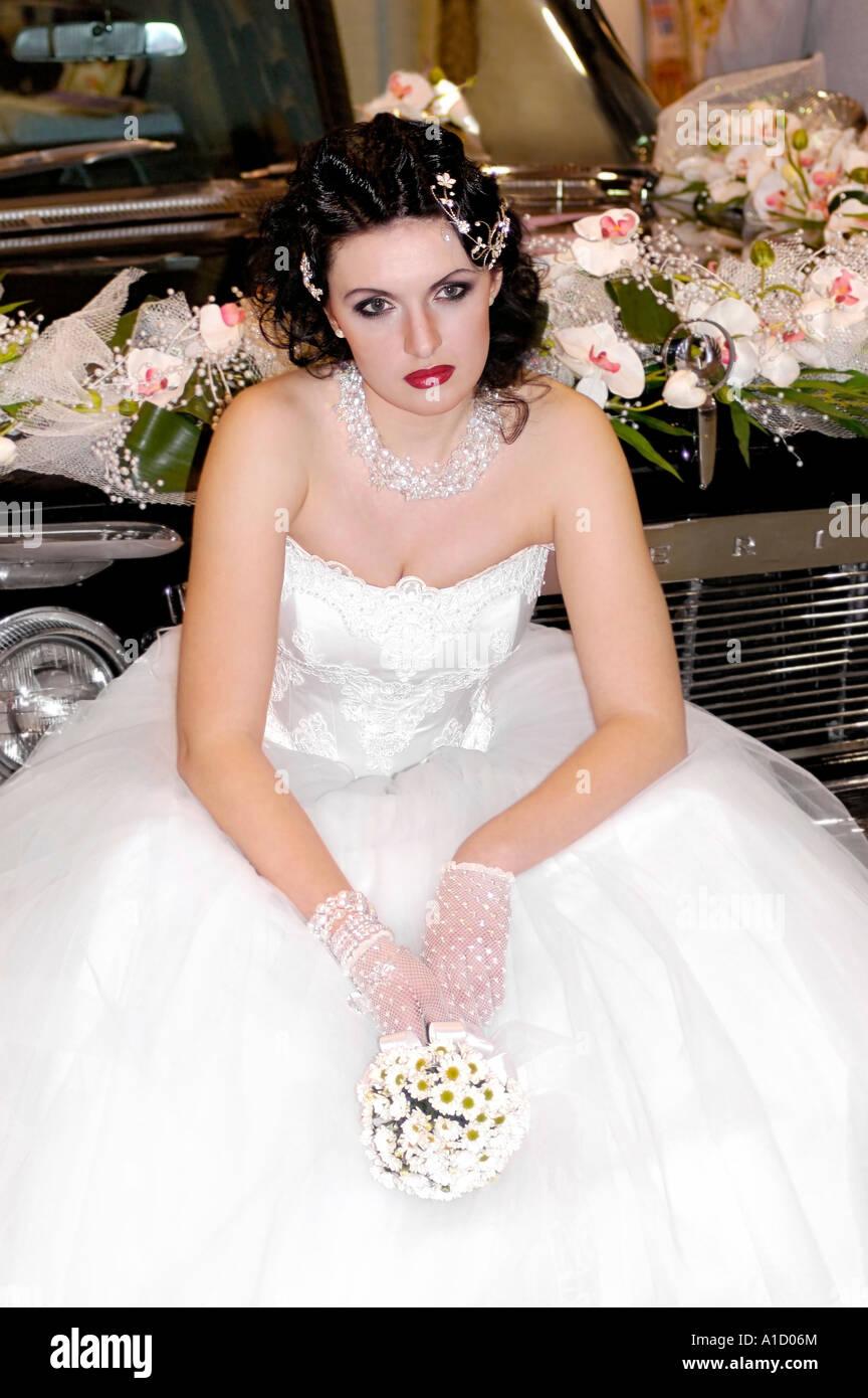 Lonely Bride Stock Photo