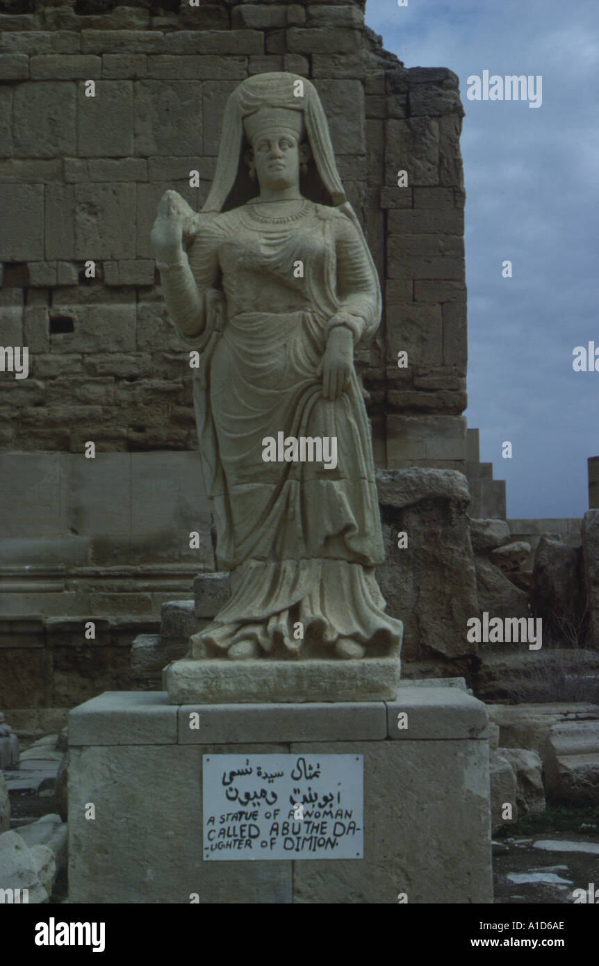 Daughter of Dimion statue in Hatra Iraq - Stock Image