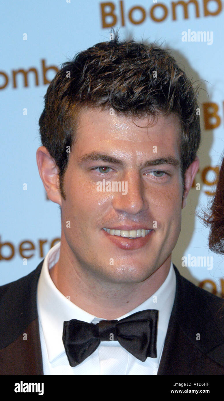The BACHELOR Jesse Palmer arrives at the BLOOMBERG NEWS part