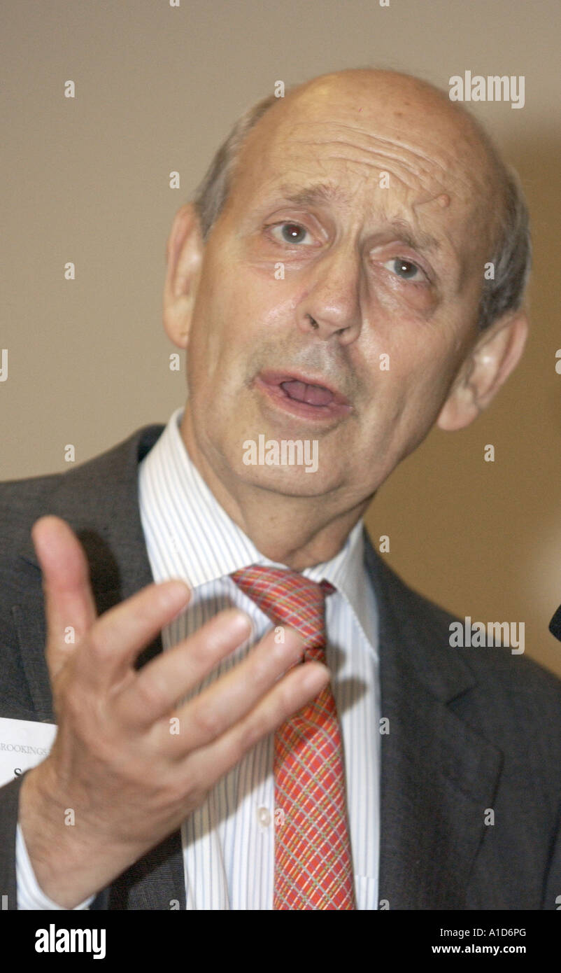 Justice Stephen Breyer Associate Justice of The Supreme Court of the United States speaks on American Law. - Stock Image