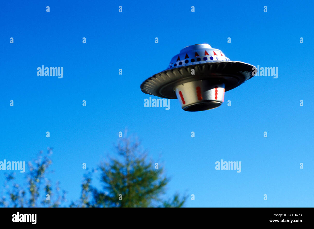 Sci Fi flying saucer - Stock Image