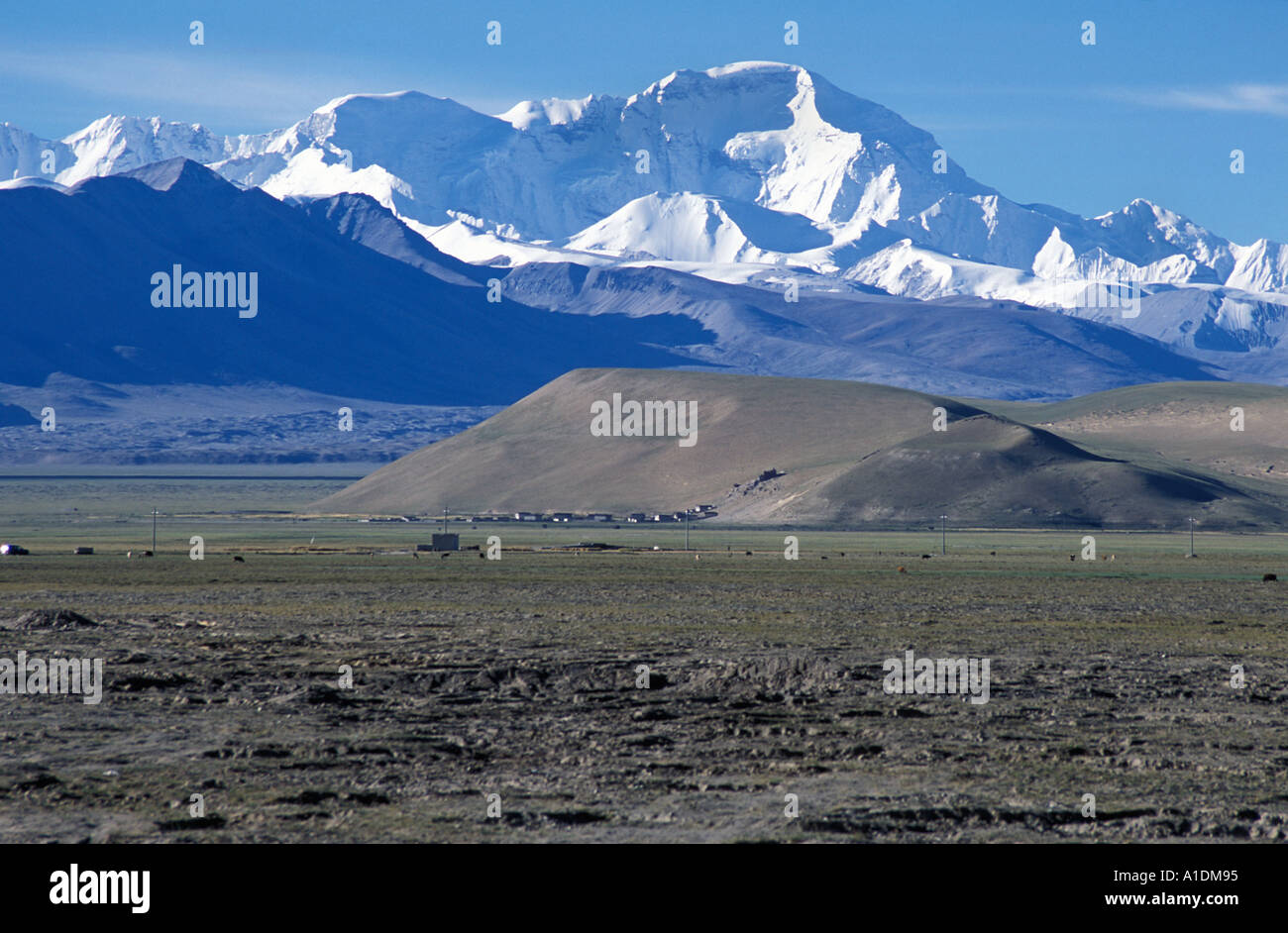 North Face of Cho Oyo 8201m Tibet Journey to an ascent of ShishaPangma Tibet Photo by Philip Mansbridge - Stock Image