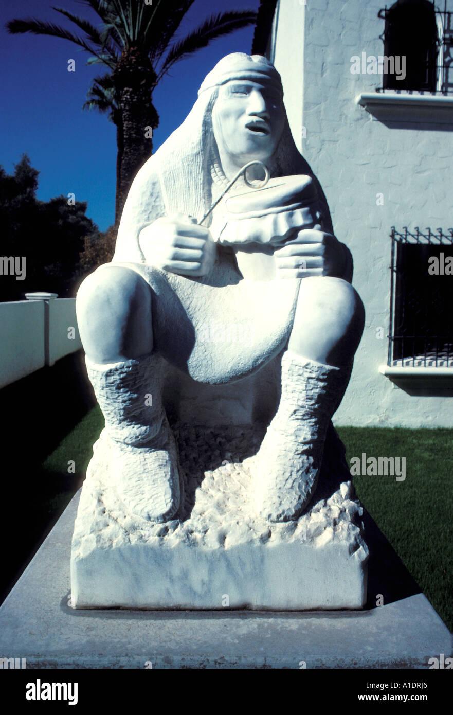 Arizona Phoenix Alan Houser sculpture at Heard Museum - Stock Image