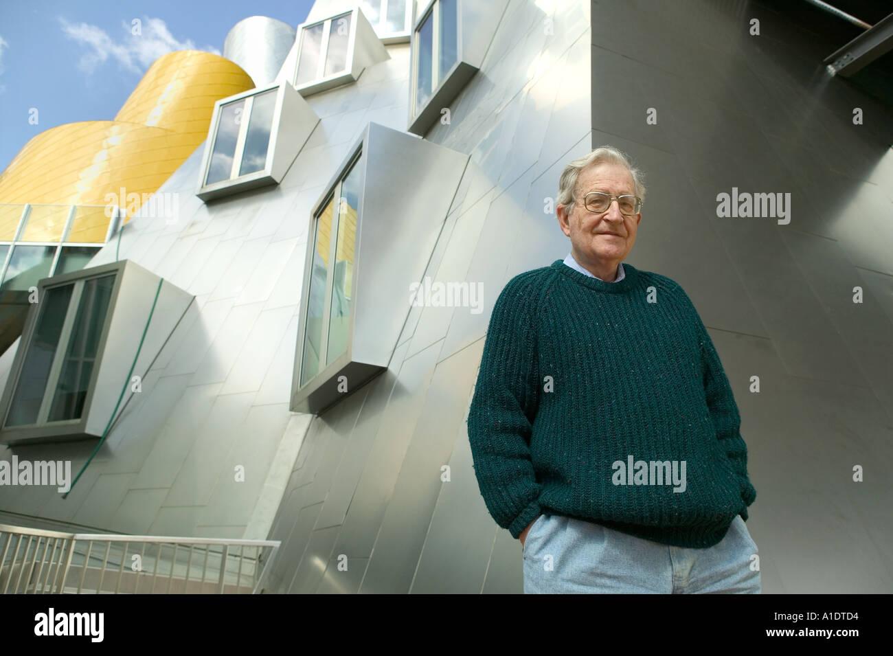 Noam Chomsky Professor of Linguistics at MIT Massachusetts Institute of Technology Stata Building - Stock Image
