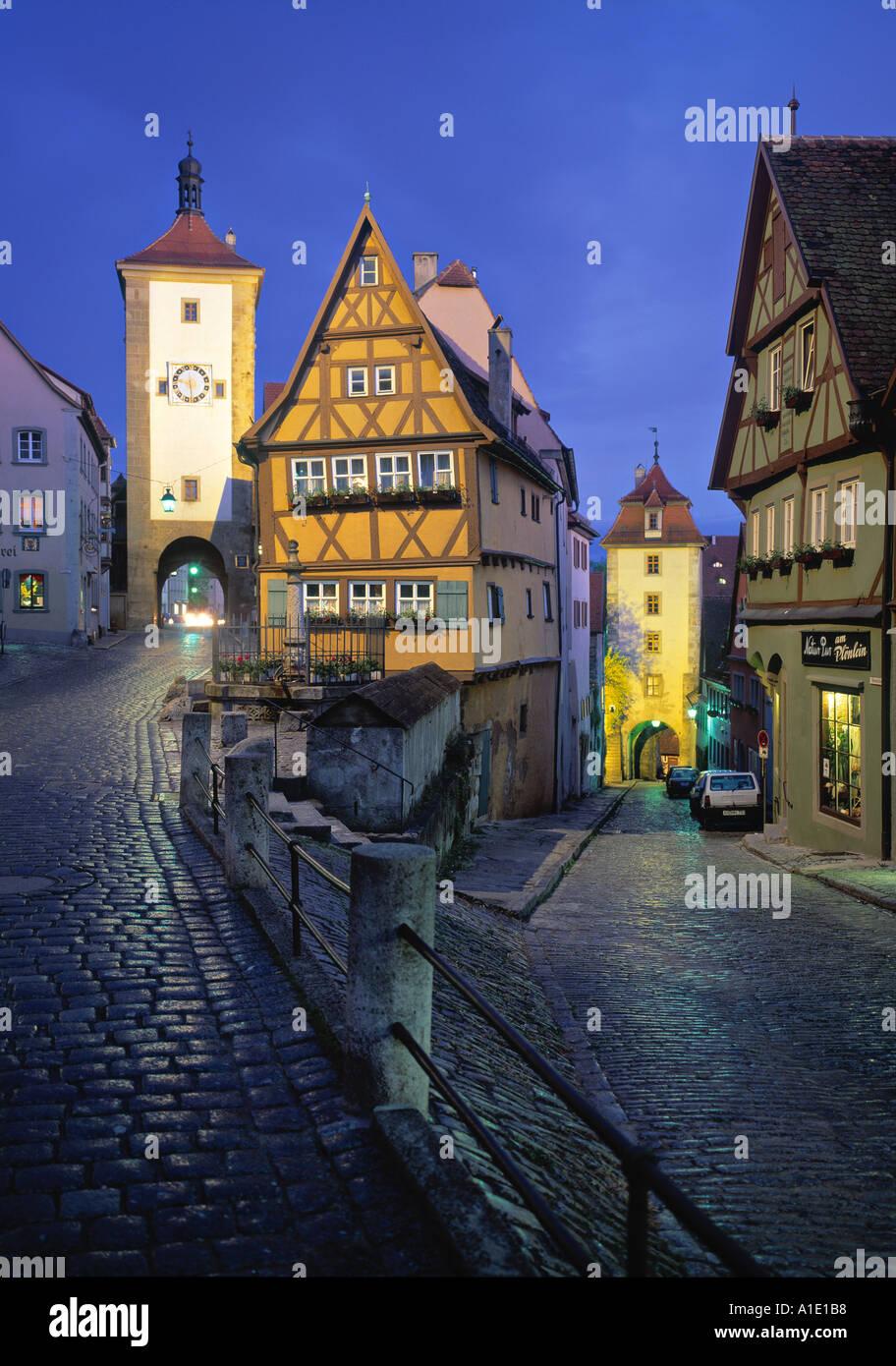 Rothenburg Ob Der Tauber, Bavaria, Germany - Stock Image