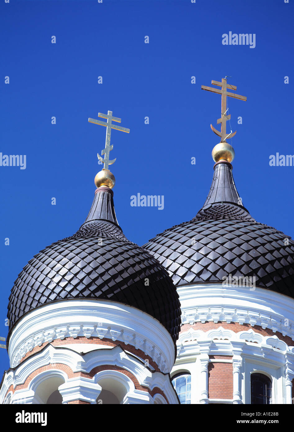 Alexander Nevsky Cathedral in Tallin dome detail - Stock Image